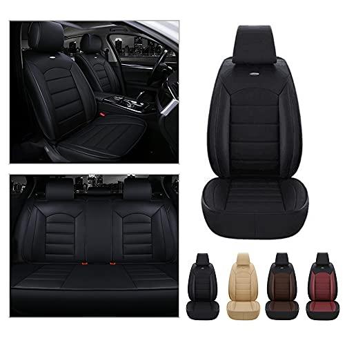 Maidao Fundas de asiento de 5 asientos para Audi TT delantero trasero completo protector de cuero artificial impermeable compatible airbag fundas de asiento negro