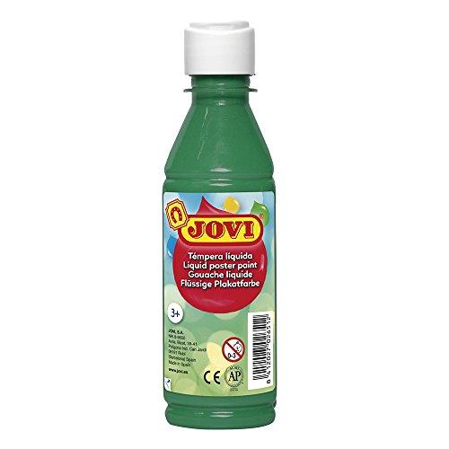Jovi- Tempera liquida, Color verde oscuro, 250 Ml (50219)