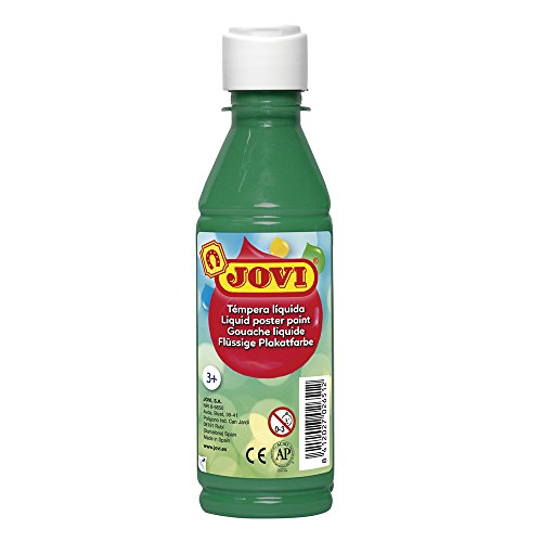 Jovi- Tempera liquida, Color verde oscuro, 250 Ml (50219)