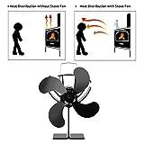 Brownrolly Ventilatore Per Stufa A 4 Pale Con Alimentazione Termica | Fireplaces Stove Fan...