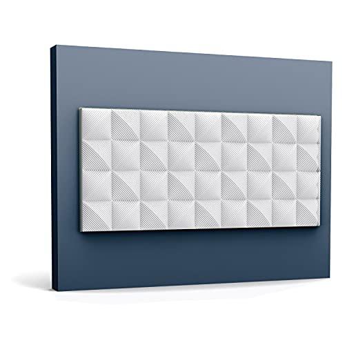 3d revestimiento mural Orac Decor W113 MODERN COBBLE Panel de pared Elemento decorativo diseño moderno blanco 2 m