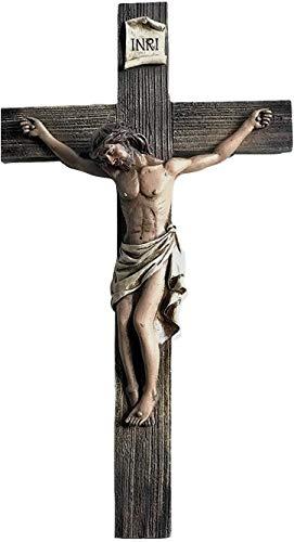 Polly House Jesus auf dem Kreuz genagelt aus Kunstharz, 35,6 cm