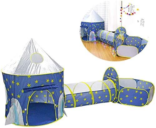 Túnel plegable de 3 en 1, tienda emergente, túnel de gateo para niños pequeños, pozo de bola de teatro infantil, uso interior y exterior para niñas y niños