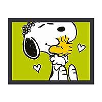 """Snoopy ラブ インテリア キャンバス 絵画 家の壁 装飾画 壁飾り 壁ポスター パネル インテリア 装飾 ソファの背景絵画 12"""" x 16"""" 雰囲気 癒し 外枠付き"""