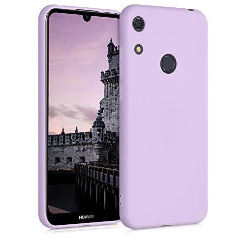 kwmobile Funda Compatible con Huawei Y6s (2019) - Carcasa de TPU Silicona - Protector Trasero en Malva Pastel