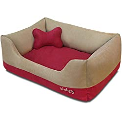 Cushioned dog bed for strong chewers