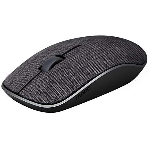 ZNYD Ratón inalámbrico Multi-Mode, Bluetooth 3.0/4.0 RT 2.4G Easy-Switch se Conecta a la Tableta de Laptop teléfonos Inteligentes, Ratones silenciosos (Color : Negro)