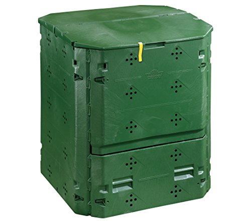 Great Price! Dehner Thermo composter, 420l, 84 x 74 x 74 cm, Plastic, Black/Green