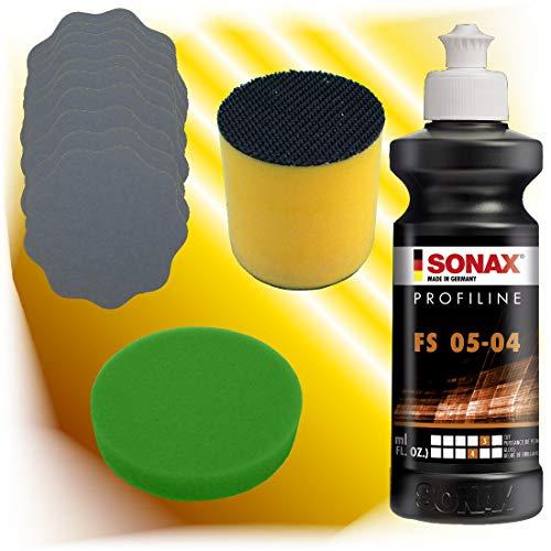Preisvergleich Produktbild Sonax Schleifpolitur FS 05-04 + Schleifblüten + 1 x Polierschwamm + Schleifklotz