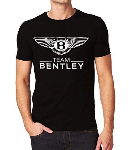 SunHeg Bentley Motors Team Car Racing Logo Men's T-Shirt,Black,Large