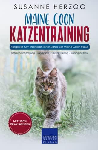 Maine Coon Katzentraining - Ratgeber zum Trainieren einer Katze der Maine Coon Rasse: Katzenbeschäftigung – Jagdspiele – Clicker-Training – Trainingsaufbau