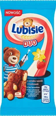 24x Lubisie Duo Vanille-Erdbeere 30g (Karton)