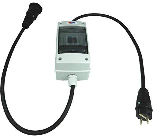 NWP 230V Schuko - mobiler digitaler Stromzähler - geeicht - (mit Reset) IP54