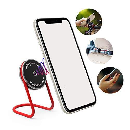 IMstick Soporte para teléfono Multiuso | El Mejor Amigo de tu Smartphone para Entrenamiento en casa | Oficina en casa | Entretenimiento en casa | Soporte teléfono o Soporte para Cualquier Uso (Acero)