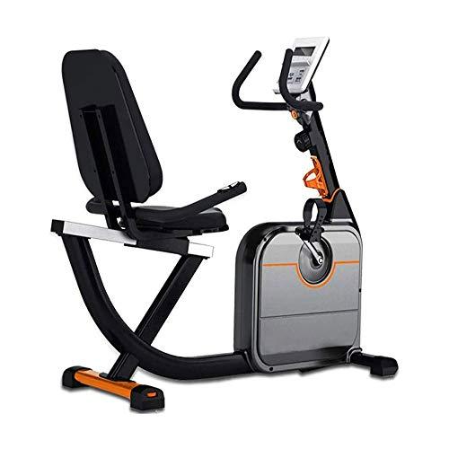 Magnética bicicleta estática reclinada, Silent bicicleta estática con pantalla LCD y la prueba de frecuencia cardíaca, 8 de engranajes sistema de resistencia ajustable, for la oficina, gimnasio