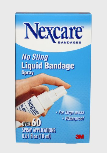 Nexcare No Sting Liquid Bandage Spray - Over 60 Applications - Lot of TWO Bottles