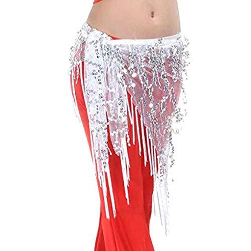 wufeng Lady Frauen Bauchtanz Hüfttuch Accessoires Gürtel Schal Adult Rock Bauchtanz Bauchkette Wrap Erwachsene Tanz-Wear