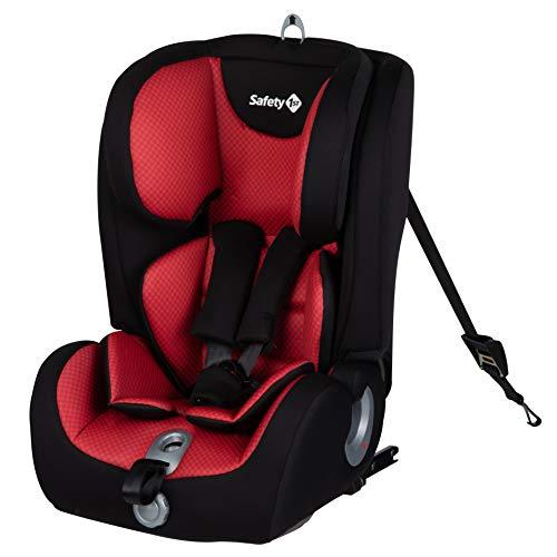 Safety 1st Ever Fix Kindersitz mit ISOFIX, mitwachsender Gruppe 1/2/3 Autositz inkl. Sitzverkleinerer (9-36 kg), nutzbar ab ca. 9 Monate bis ca. 12 Jahre, Pixel Red