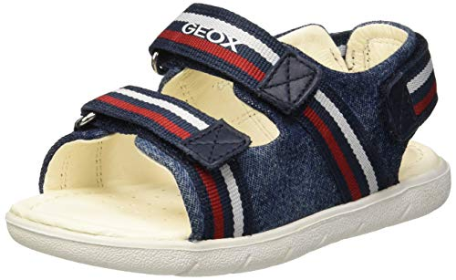 Geox B Sandal Alul Boy B, Bimbo 0-24, Navy Red C0735, 27 EU