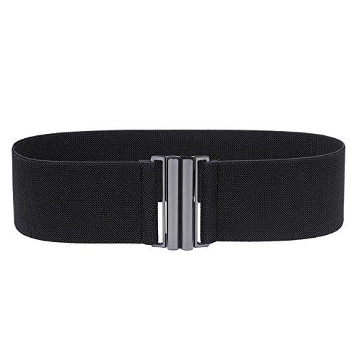 Syuer Womens Wide Elastic Waist Belt Cinch Belt Trimmer Stretch Waistband