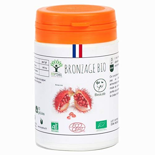 pas cher un bon Tan biologique |  60 capsules |  Compléments alimentaires |  Préparation autobronzante naturelle de la peau bronzée…
