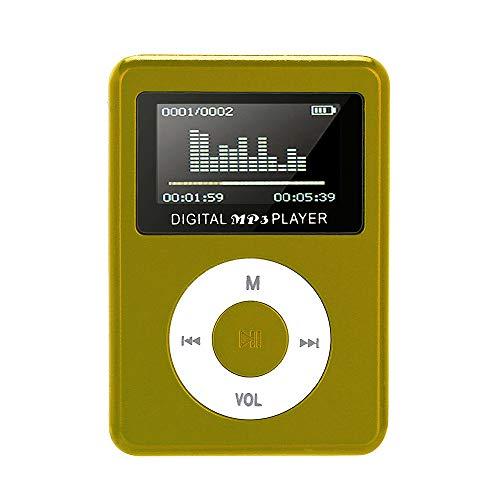 CZYCO USB Mini LCD Screen MP3 Player LCD Screen Support 32GB Micro SD TF Card(Green)
