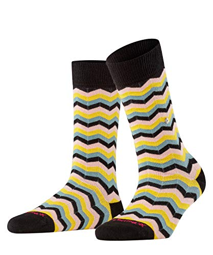 Burlington Damen Zig Zag Stripe W SO Socken, schwarz (Black 3001), Einheitsgröße (DE 36-41)
