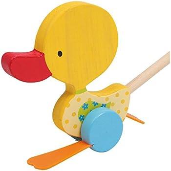 Kinder Holz Schiebe Ente! Ente | Holz Spielzeug Peitz