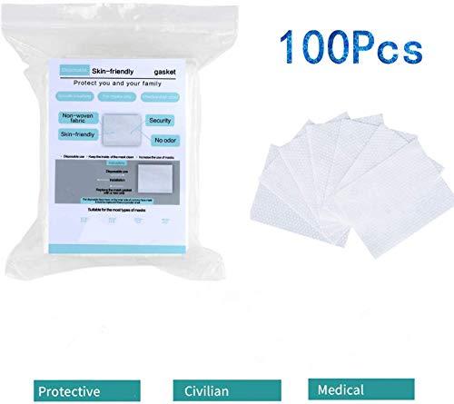 100 almohadillas de filtro desechables, respetuosas con la piel y transpirables, bloquean las gotas, filtro de respiración de carbón activado seguro, purificador de aire desechable