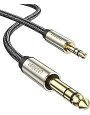 UGREEN Aux Kabel 3.5mm naar 6.35mm Audio Kabel 3.5 Male to 6.35 Male Nylon Jack Kabel Stereo Jack Kabel Compatibel met Elektronische Gitaar Versterker Geluids Systeem HiFi Luidsprekers Mixer Smartphone enz. (1M)