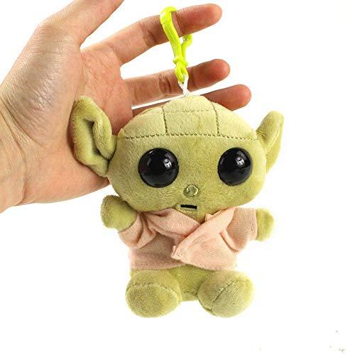 Star Spacewars Plush Doll Baby Yodaed Figuras de acción Bolso colgante Llavero Pequeños juguetes de regalo para niños Venta caliente