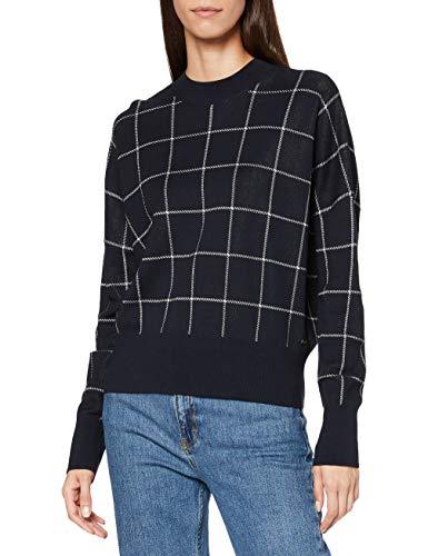 Scotch & Soda Maison Womens Oversize-Sweatshirt mit Jacquard-Muster Cardigan Sweater, 0222 Combo F, XL