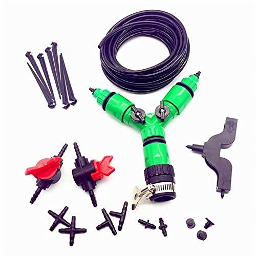 Accesorios a prueba de fugas Kit de riego de jardín de plantas de bricolaje 142pcs 30m 4 / 7mm Contacto de la manguera Universal con Tap Fast Interface Soporte de la manguera Agujero Puncher Thip TEE