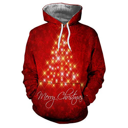Autumn and Winter 3D Digital Printing Long-Sleeved Loose Urban Casual Couple Trendy Hooded Sweater