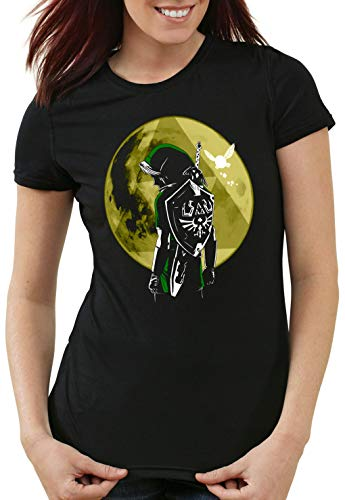 style3 Link Triforza Luna T-Shirt da Donna Switch Principessa Awakening, Dimensione:M