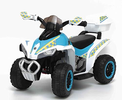 TOYSCAR electronic way to drive Quad Elettrico per Bambini Racer Sport con luci Suoni Mp3 Bauletto Marcia avanti Indietro e accellelratore