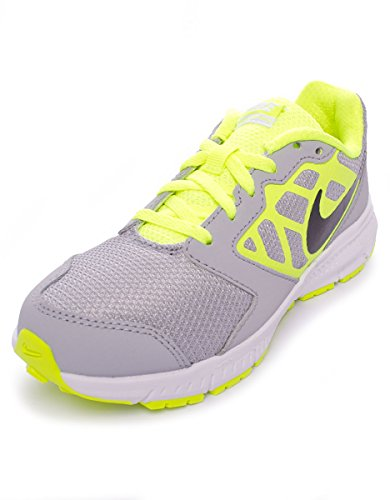 Nike Downshiffter 6 (GS/PS) Scarpe Sportive, Unisex, (Grey - Yellow - Black), 29 1/2