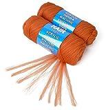 100% Brazilian Wool Hair Acrylic Yarn For African Braids/Senegalese Twist/Faux Locs/Wraps/Dreadlocks (2Roll, #30)