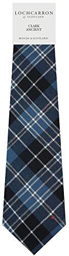 I Luv Ltd Gents Neck Tie Clark Ancient Tartan Lightweight Scottish Clan Tie