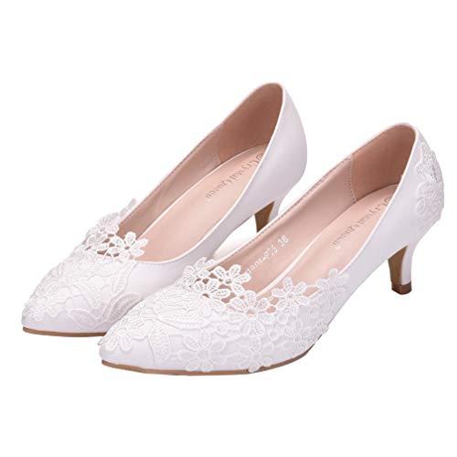 Holibanna Braut Hochzeit Abend Party Schuhe Frauen Stiletto Low Heel Pumps 5Cm Kleid Elegante Schuhe