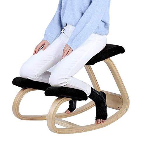SMGY-YZ Correctieve stoel, anti-bult rugstoel yoga stoel, houten frame schommel met gewatteerde ligstoel, zittende houding correctie stoel, anti-bijziendheid