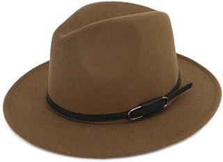 Vim Tree Unisex Wide Brim Felt Fedora Hat for Men Women Trilby Cap with Band