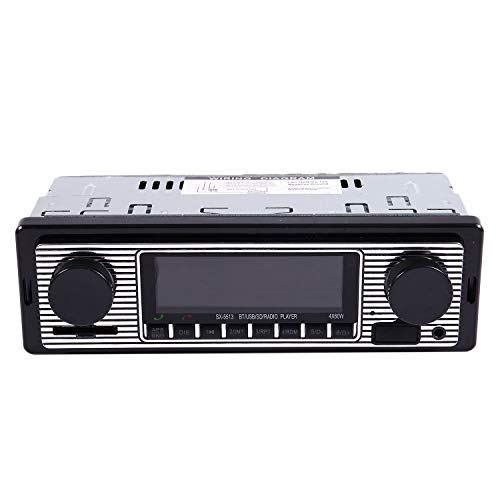 TOOGOO Reproductor de MP3 Radio Vintage para Coche Audio Estereo de USB AUX para el Coche