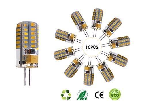 SidiOutil G4 LED Glühbirnen 3000K Warmbeleuchtung Dimmbare Landschafts-LED-Birne 3W Entspricht 30W T3 Halogen-Schienenbirnenersatz G4 Bi-Pin Sockellampe (10 Stk.)