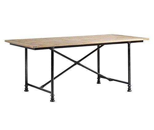My-Furniture Esstisch in industriellem Stil aus wiederverwertbarem Bauholz und Stahl Renoir