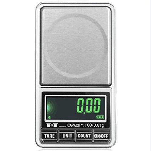 Elektronische digitale LCD-Taschenwaage USB-Schnittstelle Jewelry Waage Mehrzweck Küche Maßstab, 1, 100/0.01g