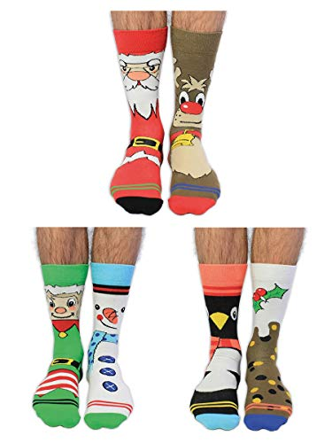 Santa Banta- Box of 6 Mens Oddsocks - United Oddsocks