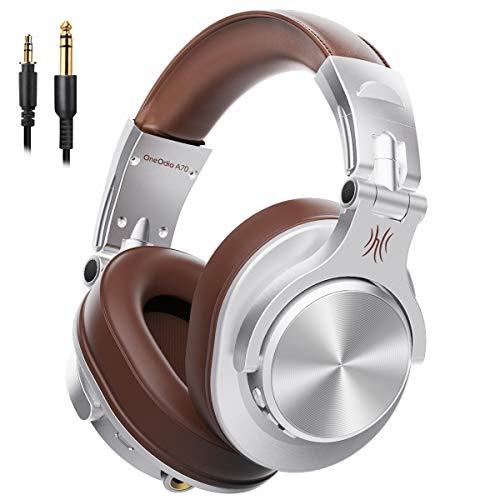 OneOdio ワイヤレス ヘッドホン Bluetooth 5.0 50時間再生 AAC対応 有線 無線 両用 密閉型 ブルートゥース ヘッドフォン FuSion A7 銀