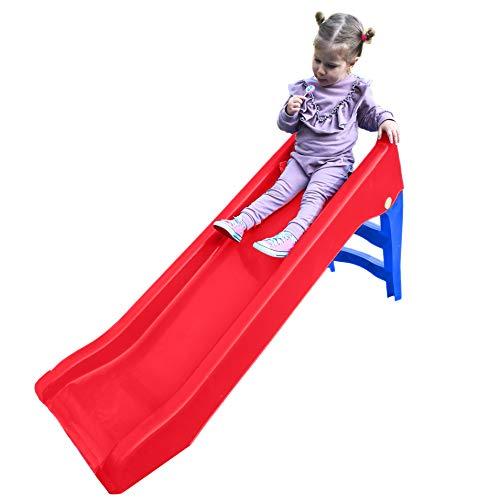 Woopie Slide for Kids Waterslide for Children Chute Toy for Summer Freestanding Outdoor Indoor Garden Activity (Red)