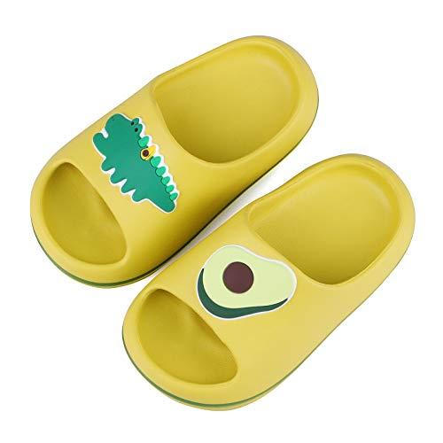 Zapatillas Verano Niñas Niños Pantuflas Playa Piscina Ninas Zapatos Antideslizante Ducha Baño Ninos 33 34 EU,Verde